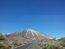 landskap av Canadas del Teide i vinter Royaltyfri Bild