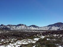 landskap av Canadas del Teide i vinter Fotografering för Bildbyråer