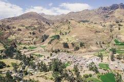 Landskap av Canta - Lima - Peru Arkivfoto