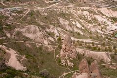 Landskap av Cappadocia royaltyfria foton