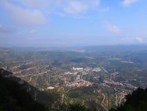 Landskap av Catalonia Arkivbilder