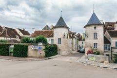 Landskap av Chablis i Bourgogne arkivfoton