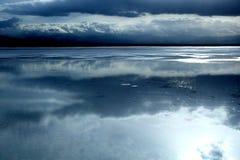 Landskap av Chaka Salt Lake Fotografering för Bildbyråer