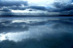 Landskap av Chaka Salt Lake Arkivbild