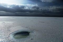 Landskap av Chaka Salt Lake Arkivbilder