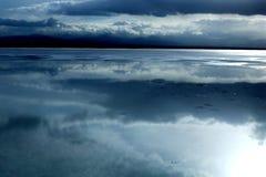 Landskap av Chaka Salt Lake Arkivfoton