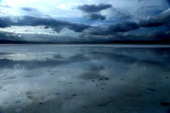Landskap av Chaka Salt Lake Arkivfoto
