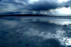 Landskap av Chaka Salt Lake Royaltyfria Foton