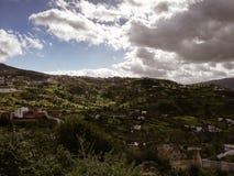 Landskap av Chaouen royaltyfri fotografi