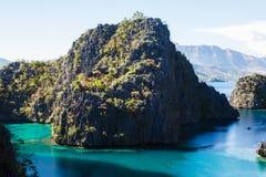 Landskap av Coron, Busuanga ö, Palawan landskap, Filippinerna Arkivbilder