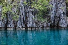 Landskap av Coron, Busuanga ö, Palawan landskap, Filippinerna Royaltyfri Bild