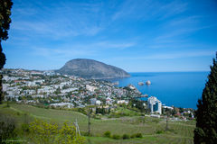 Landskap av Crimean berg Royaltyfri Fotografi