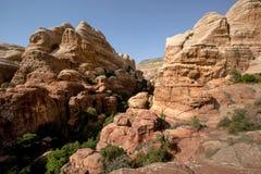 Landskap av Dana National Park, Jordanien royaltyfri foto