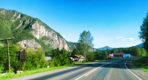 Landskap av de Altai bergen Arkivfoto