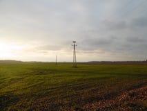 Landskap av de härliga fälten Arkivfoton