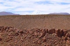 Landskap av den Atacama öknen, Chile arkivfoton