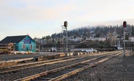 Landskap av den Bellingham stationen Royaltyfri Foto