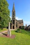 Landskap av den Bourock Prish kyrkan Barrhead, östliga Renfrewshire Arkivfoton