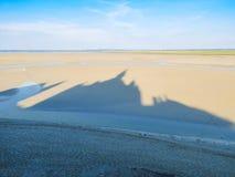 Landskap av den Brittany och Mont Saint-Michel fjärden france Royaltyfri Foto