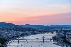 Landskap av den Budapest Ungern Arkivfoton