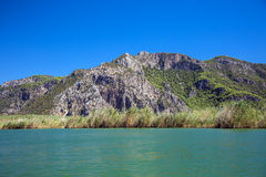 Landskap av den Dalyan floden royaltyfria foton