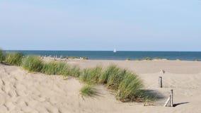 Landskap av den dunkirk stranden stock video