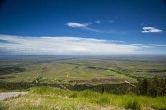 Landskap av den enorma plana platån, prärie Arkivbild