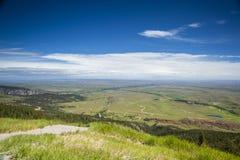 Landskap av den enorma plana platån, prärie Fotografering för Bildbyråer