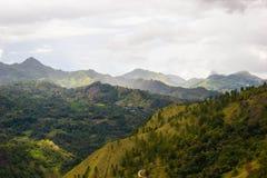 Landskap av den Enrekang dalen Royaltyfri Foto