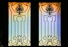 Landskap av den färgrika fönsterrutan Royaltyfri Fotografi