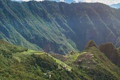 Landskap av den forntida staden för machupicchu Royaltyfri Bild