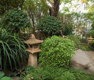 Landskap av den Japaness trädgården Arkivfoto