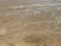 Landskap av den Judean öknen i Mellanösten arkivbild