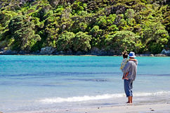 Landskap av den Karikari halvön Nya Zeeland arkivfoto