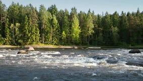 Landskap av den Kymi floden i Finland lager videofilmer