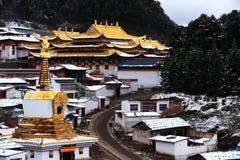 Landskap av den Langmu templet Arkivfoton
