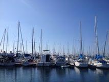 Landskap av den Long Beach marina Arkivbild