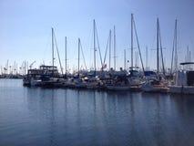 Landskap av den Long Beach marina Royaltyfri Foto