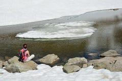 Is- landskap av den Madriu-Perafita-Claror dalen Fotografering för Bildbyråer