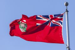 Landskap av den Manitoba flaggan, Kanada arkivbild