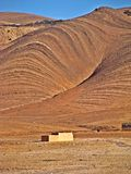 Landskap av den mellersta kartboken, Marocko royaltyfria foton