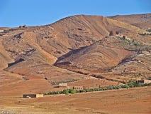 Landskap av den mellersta kartboken, Marocko royaltyfri fotografi