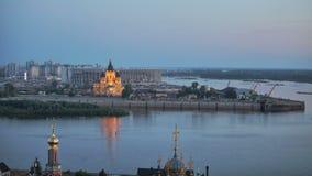 Landskap av den Nizhniy Novgorod staden stock video