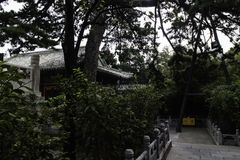 Landskap av av den PekingTanze templet Arkivfoton