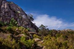 Landskap av den Peneda geresnationalparken i Portugal royaltyfria bilder