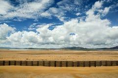 Landskap av den Qinghai - Tibet järnvägen Arkivbild