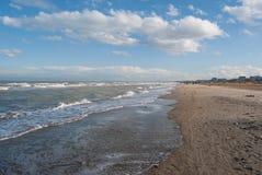 Landskap av den Rimini stranden Royaltyfria Foton