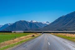 Landskap av den södra ön av Nya Zeeland Royaltyfria Bilder