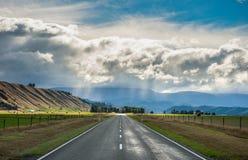 Landskap av den södra ön, Nya Zeeland Arkivfoto