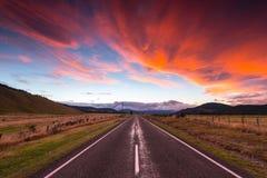 Landskap av den södra ön, Nya Zeeland Arkivbild